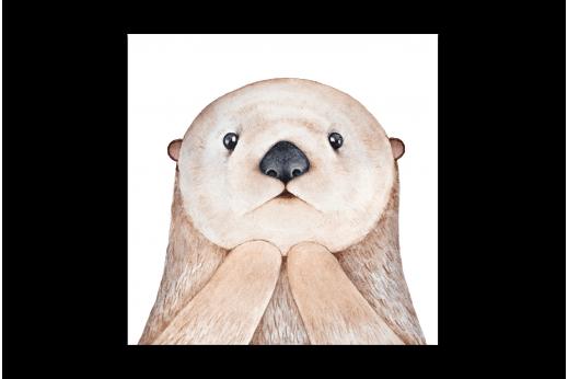 Картина Белый медведь акварель