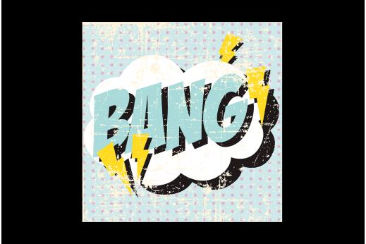 Постер Поп-арт Bang